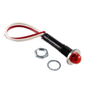 LINROSE Red LED Indicator Light Oil Tight 12v
