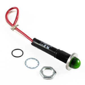 LINROSE Green LED Indicator Light Oil Tight 12v