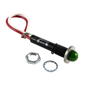 LINROSE Green LED Indicator Light Oil Tight 24v