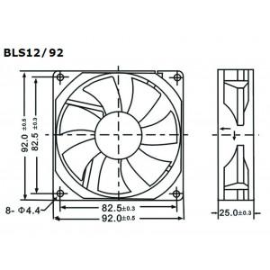 VELLEMAN Cooling Fan 12VDC 92mm