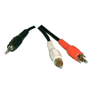 "PHILMORE 1/8"" Stereo Male to 2 RCA Male 'Y' Cable"
