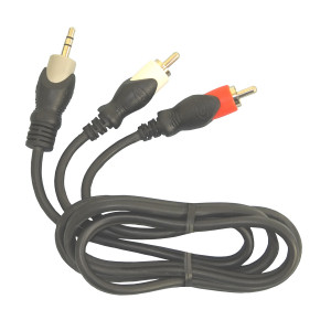 "PHILMORE 1/8"" 3C Male to 2 RCA Male Y Cable 3ft"