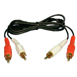 PHILMORE Dual RCA Phono Audio Cables 6ft