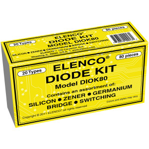 ELENCO 80 piece Diode Assortment