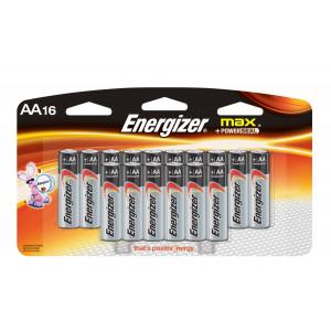 ENERGIZER Alkaline Max AA Battery 16pk