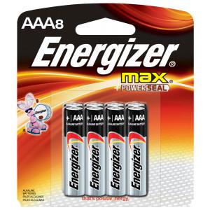 ENERGIZER Alkaline Max AAA Battery 8pk