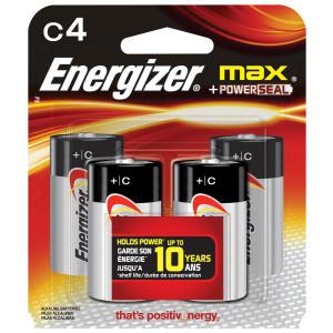 ENERGIZER Alkaline Max C Battery 4pk
