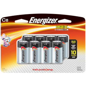 ENERGIZER Alkaline Max C Battery 8pk