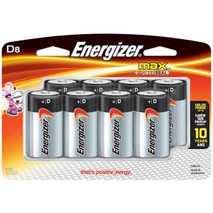 ENERGIZER Alkaline Max D Battery 4pk