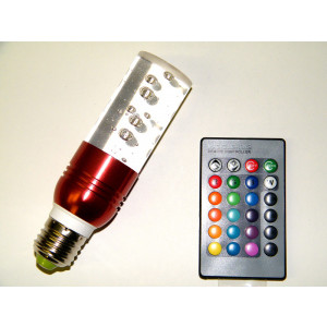 ELYSSA RGB LED Crystal Light Bulb 16-Color