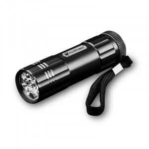 GOGREEN 9-LED Flashlight, Black