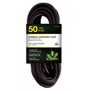 GOGREEN 16/3 50' Heavy Duty Extension Cord