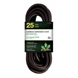 GOGREEN 14/3 25' Heavy Duty Extension Cord