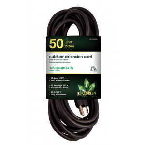 GOGREEN 14/3 50' Heavy Duty Extension Cord