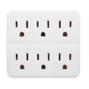 GOGREEN 6-Outlet Wall Tap White