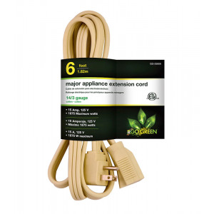 GOGREEN 14/3 3ft Appliance Cord - Beige