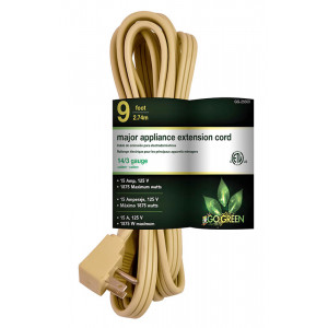 GOGREEN 14/3 9ft Appliance Cord - Beige