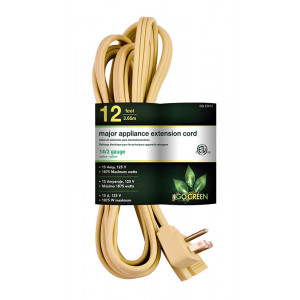 GOGREEN 14/3 12ft Appliance Cord - Beige