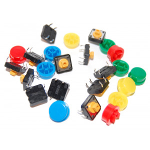OSEPP Tactile Button Assortment 12pc