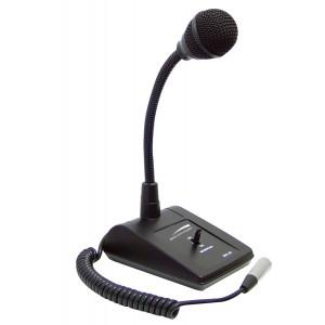 SPECO Adjustable Gooseneck Tabletop Microphone