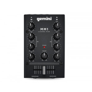GEMINI Mini 2 Channel DJ Mixer