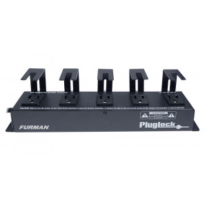 FURMAN 12A Power Distribution Strip with Plug Lock Brackets