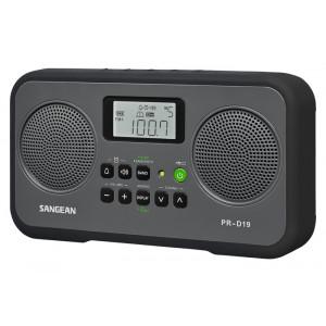 SANGEAN FM-Stereo/AM Digital Tuning Portable Receiver Black