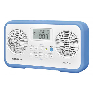 SANGEAN FM-Stereo/AM Digital Tuning Portable Receiver Blue