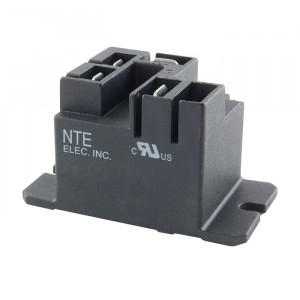 NTE Power Relay 5VDC 30A SPST-NO Flange Mount