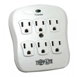 TRIPPLITE 6-Outlet Low-Profile Surge Protector Direct Plug-In