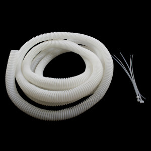 "VANCO Split Loom Tubing 1/2"" White 10ft"