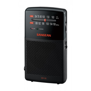 SANGEAN FM/AM Hand-Held Receiver with Built-in Spe