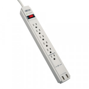 Tripplite 6-Outlet Surge Protector with USB Outlet