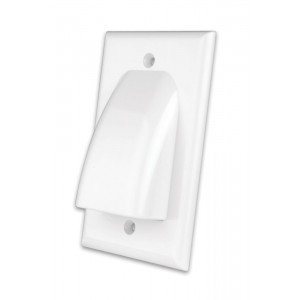 VANCO White Flat Panel TV Bulk Cable Wall Plate
