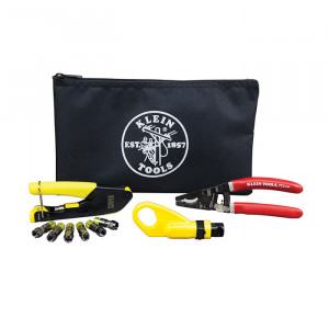 KLEIN Coax Cable Installation Kit with Zipper Pouch