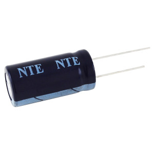 NTE 2200µF 10V High Temp Aluminum Electrolytic Capacitor Radial Leads