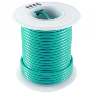 NTE Hook-up Wire 22 AWG Stranded 25ft Green