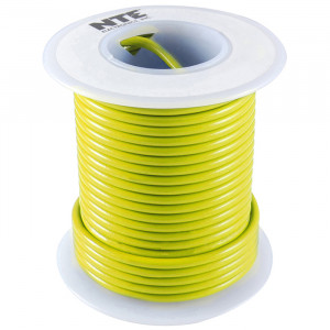 NTE Hook-up Wire 26 AWG Stranded 25ft Yellow