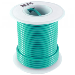 NTE Hook-up Wire 18 AWG Solid 100ft Green