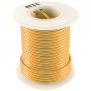 NTE Hook-up Wire 22 AWG Solid 25ft Orange
