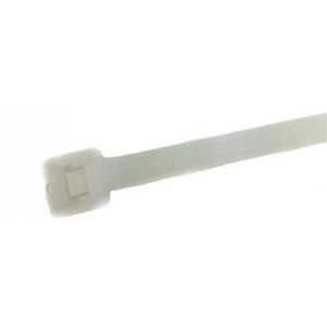 "SR Cable Ties 4"" 18lb Natural 100pcs"