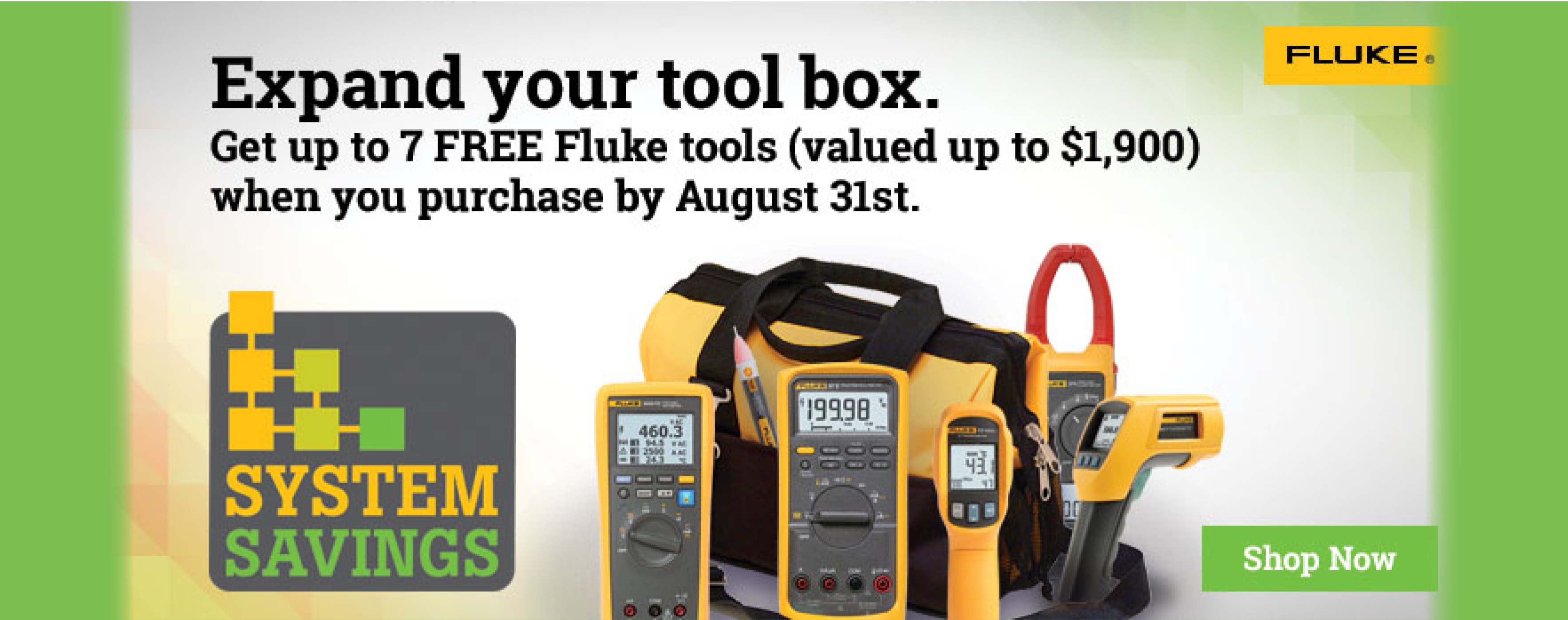 Fluke Free Good Promo through August, 2017