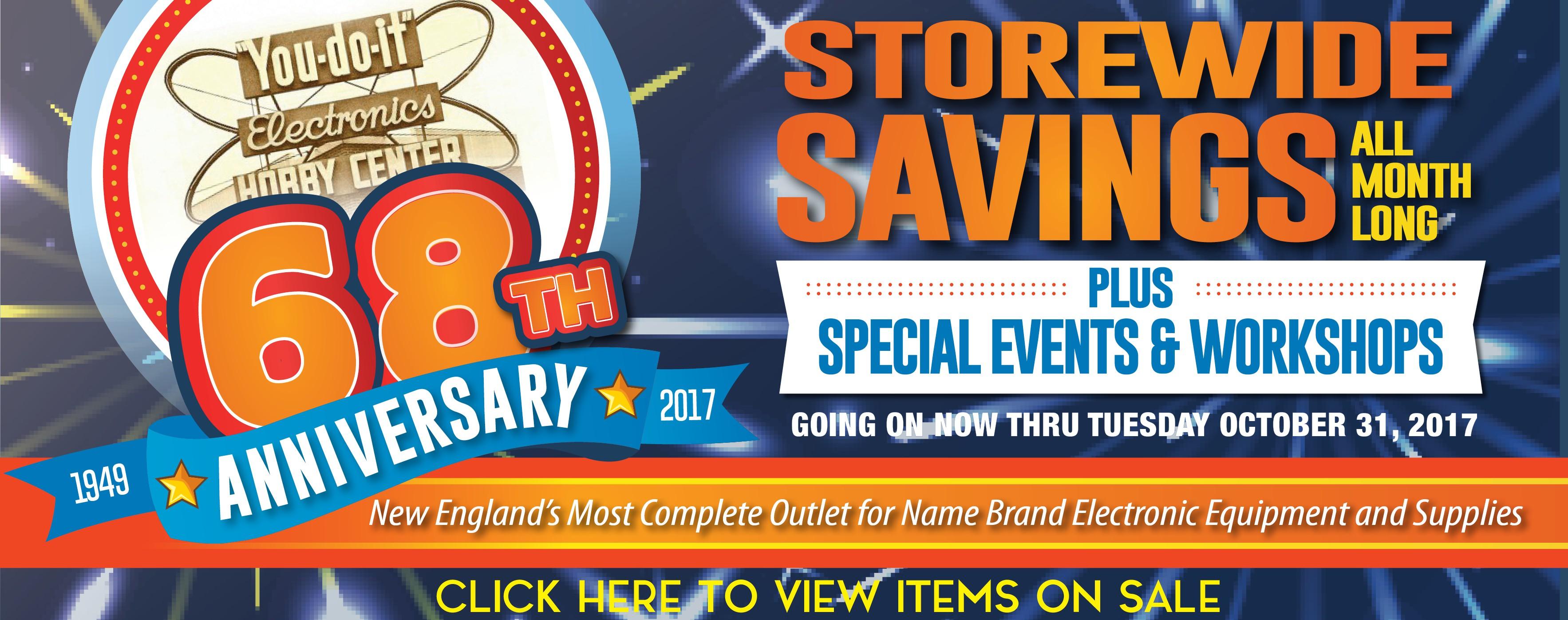 Anniversary Sale Oct 2017